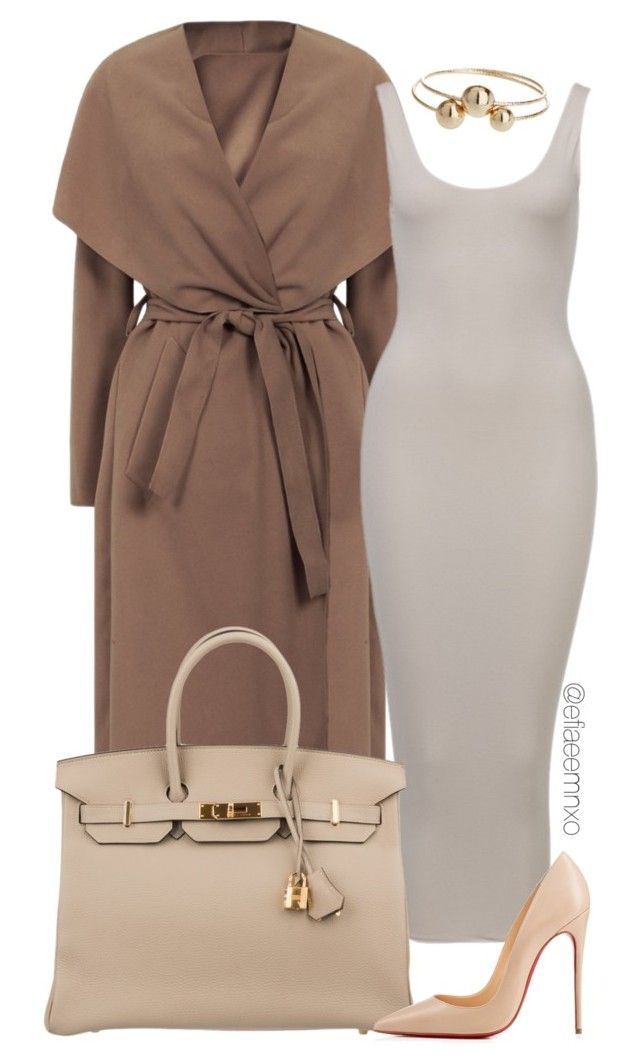 """""""Toning"""" by efiaeemnxo ❤ liked on Polyvore featuring Hermès, Christian Louboutin and Topshop"""