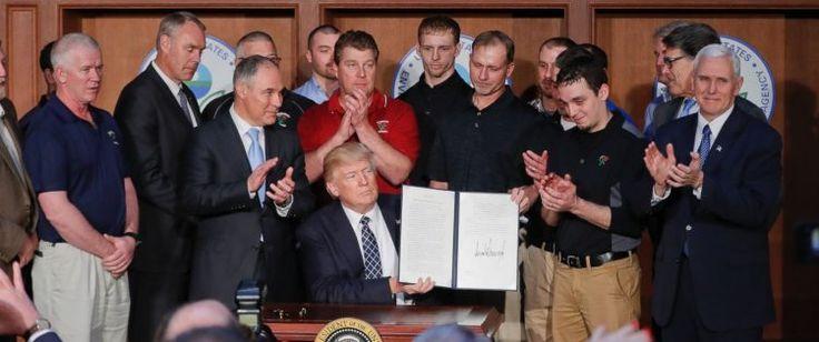 Medyascope ///  Trump dediğini yaptı, Obama'nın iklim değişikliği düzenlemelerini iptal etti