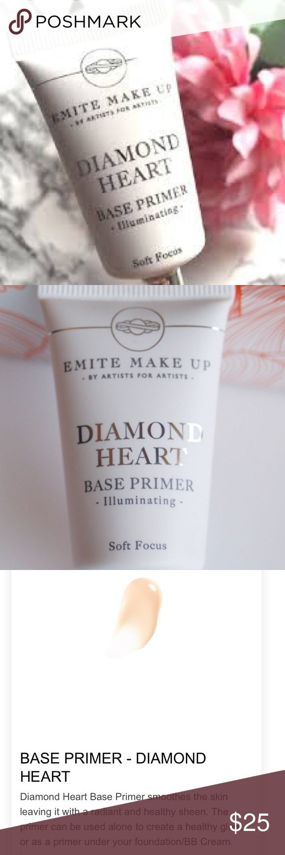 Emote make up diamond heart base primer Soft focus and illuminating Makeup Face Primer
