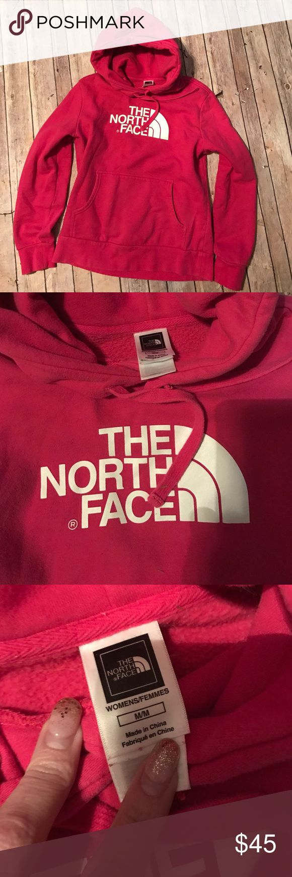 Women's The North Face Pink Hoodie Sweatshirt! M Very pretty The North Face Hot Pink Long Sleeve Hooded Sweatshirt! Medium, Great Used!! The North Face Tops Sweatshirts & Hoodies