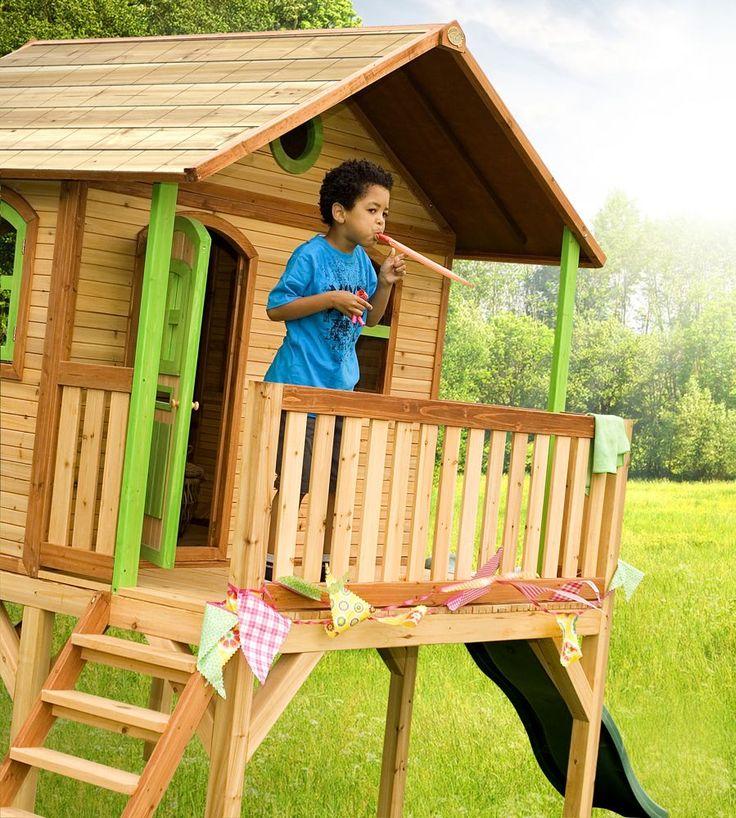 Axi Spielhaus Sophie auf Stelzen mit Rutsche Kinder