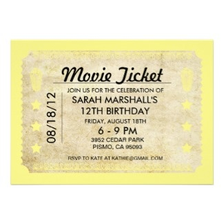is completely custom printed movie ticket style wedding invitations ...