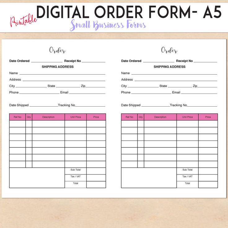 Picture Order Form Template  Resume Ideas  NamanasaCom