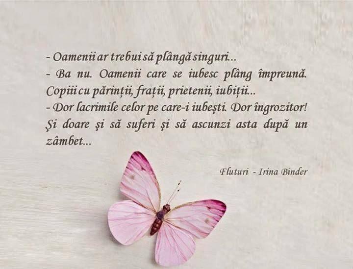 despre lacrimi şi Fluturi - Irina Binder #iubescsacitesc