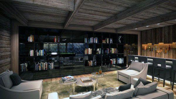 90 Home Library Ideas For Men Private Reading Room Designs Attic Remodel Attic Design Attic Rooms