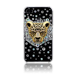 Gold Leopard and crystal rhinestones alloy diy bling phone deco kit K3   chriszcoolstuff - Craft Supplies on ArtFire