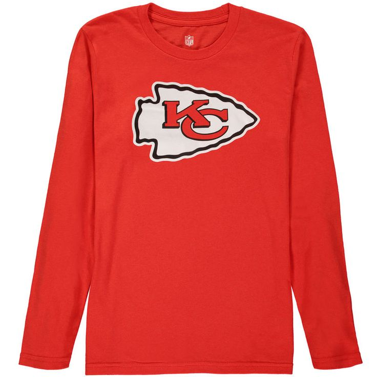 331ecebf423 ... Kansas City Chiefs Youth Team Logo Long Sleeve T-Shirt - Red Youth