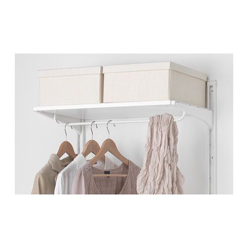 Algot clothes rail for brackets white clothes rail for Hanger for clothes ikea