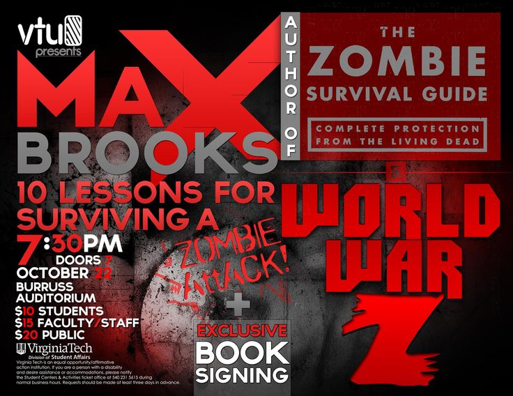 Author of World War Z & The Zombie Survival Guide Max
