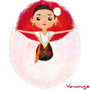 México colores y diseños de sus trajes típicos Veracruz