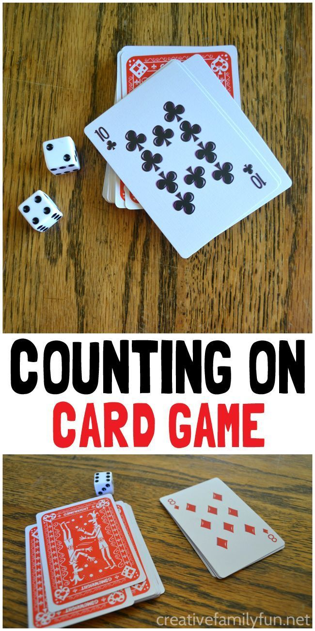 Counting on card game kindergarten classroomteaching mathmathspreschool science activitiesmath