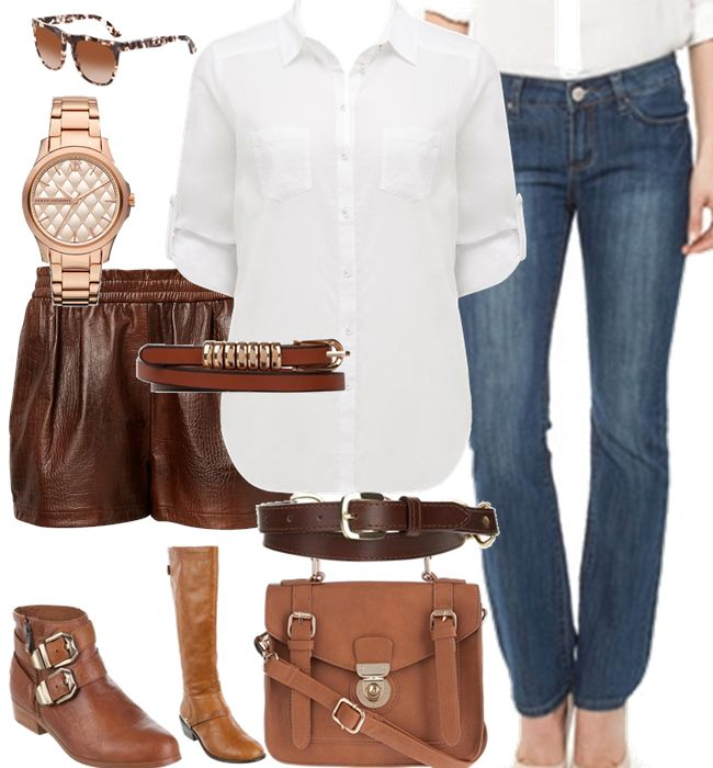 Trend alert: Equestrian inspired pieces, pair dark denim with chocolate brown or tan to pull of this simple but chic look.