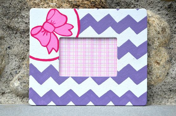 Girly Chevron Customizable Preppy Magnetic Picture by ChelDesigns, $18.00