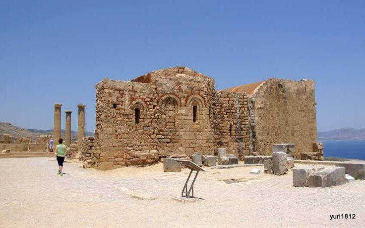Линдос, акрополь. Византийская церковь Святого Иоанна