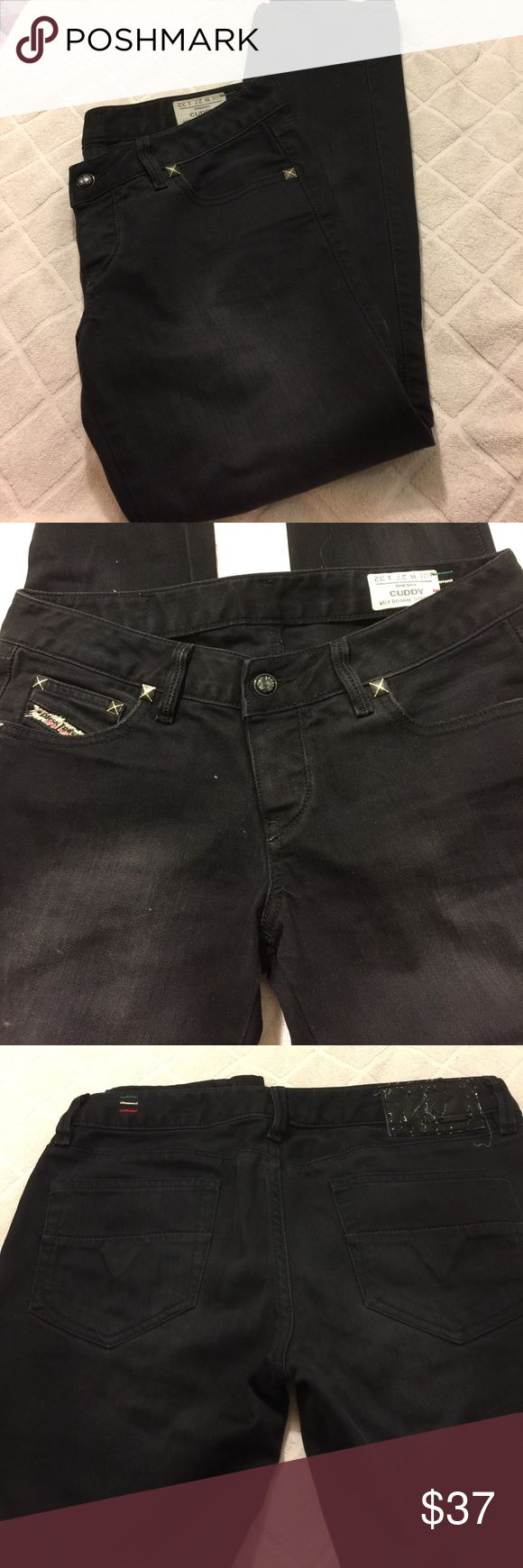 Diesel Women Cuddy Jeans Diesel Denim Cuddy stretch jeans, size W 27, L 32, made in Italy. In good preowned condition. Diesel Jeans