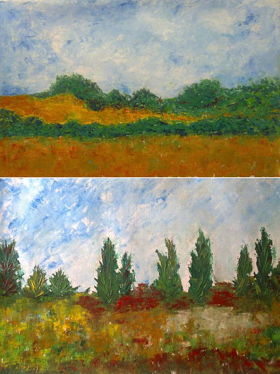 2 oil painting  original painting landscape wallart