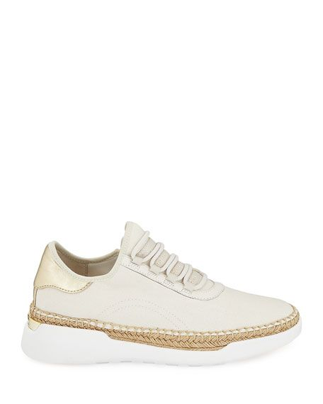 cacf3a973d86 MICHAEL Michael Kors Finch Lace-Up Wedge Espadrille Sneakers in 2019 ...