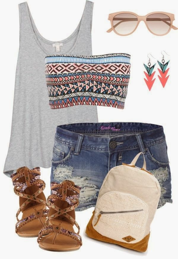 Adorable Summer Outfit For Teens.