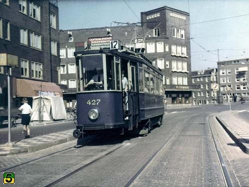 GVB Amsterdam 427, Lijn 17, Postjesweg (1954)