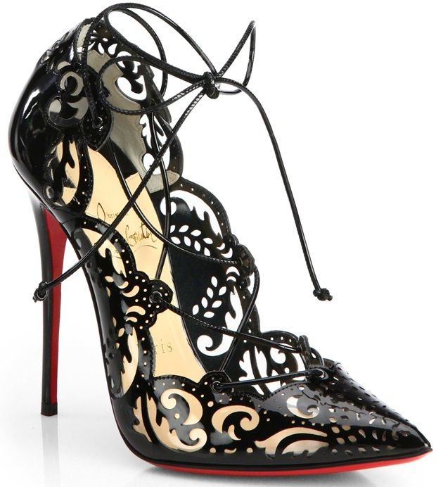 """Celebrities Love the Christian Louboutin """"Impera"""" Lace-Up Pumps ... bcb661abd3ca"""