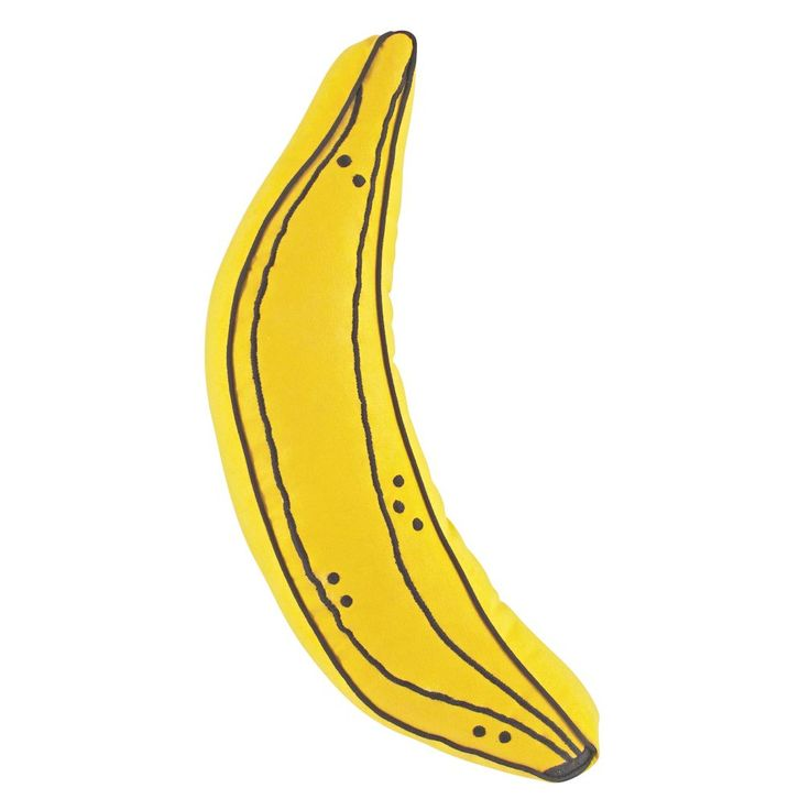 """Shop Banana Throw Pillow.  We're going to tell you how much we love this banana throw pillow, and we're not even going to use the classic joke about how """"it's a-peeling. """"."""