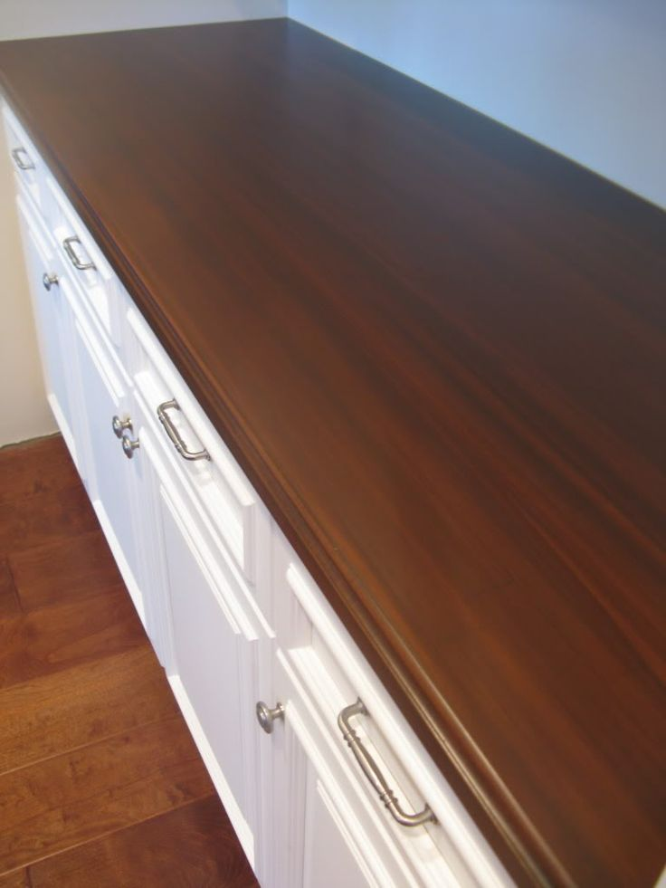 IKEA Butcherblock Countertops, Custom Stained And Sealed, With A Routered  Edge