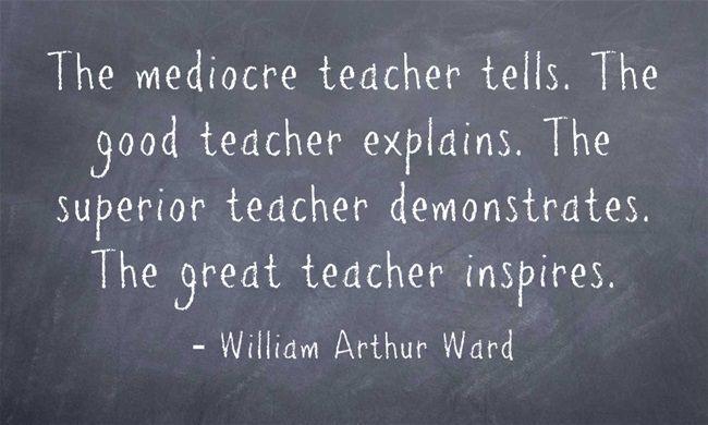 Inspiring teachers...