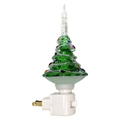 roman 33676 7 christmas tree bubble light night light https - Christmas Tree Night Light