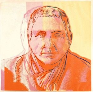 """Gertrude Stein (1980) acrylic and ink on canvas by Andy Warhol – """"Ten Portraits of Jews of the Twentieth Century"""" – Jewish Museum, New York."""