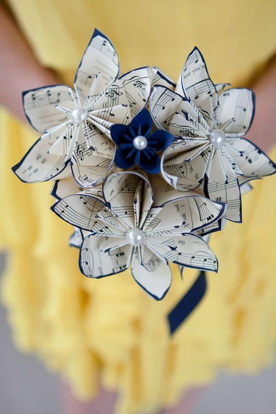 Bouquet de mariee papier 5