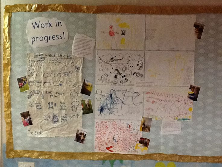 Our new working wall documenting 'go for a walk little bear' #talk4writing