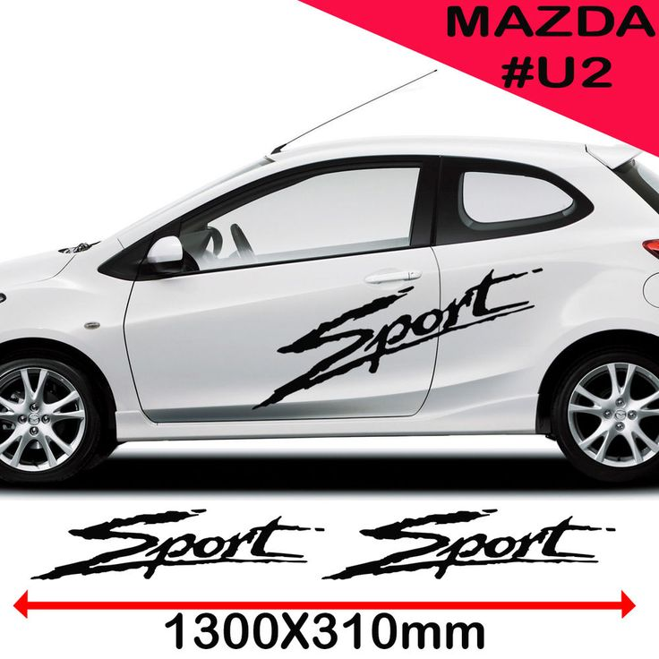 Mazda Sports Side Racing Stripes Decal Graphics /Tuning Car