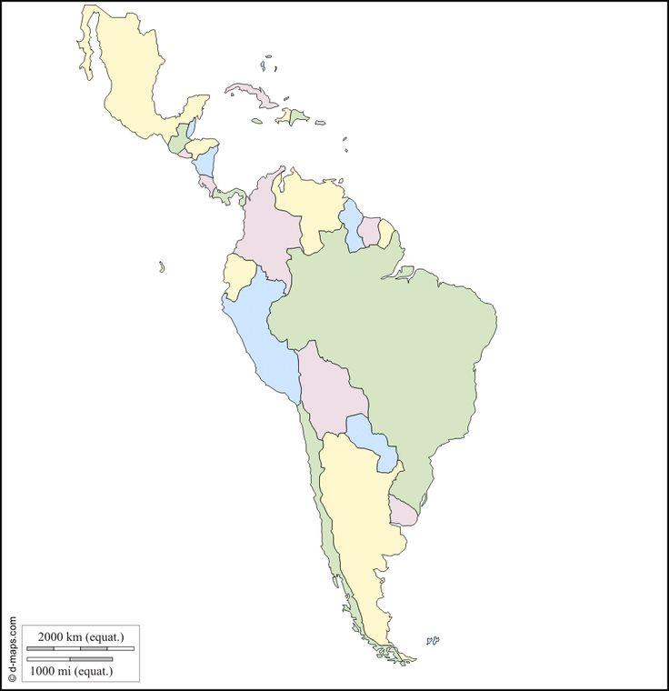 Amérique Latine : carte géographique gratuite, carte géographique muette…