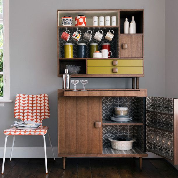 Larder Cabinet By Orla Kiely // Love These Retro Inspired Furniture Designs  That Are