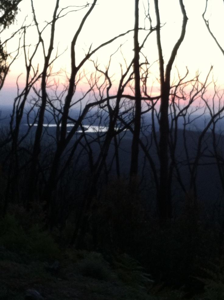 Sunset from Mt Sugarloaf, Victoria, Australia.