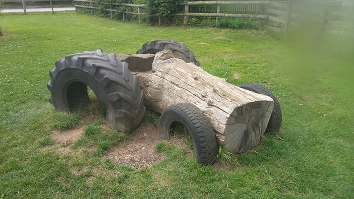 So simple - 4 tyres and a log!  Gloucestershire Resource Centre http://www.grcltd.org/scrapstore/