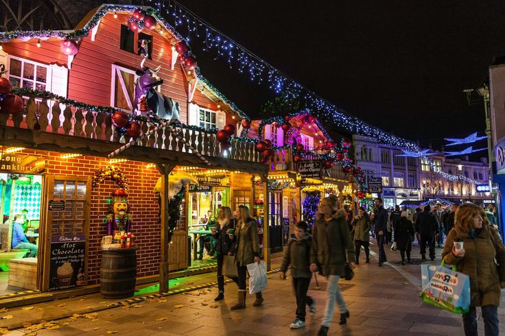 ~ Christmas market in Cardiff, Wales, UK ~