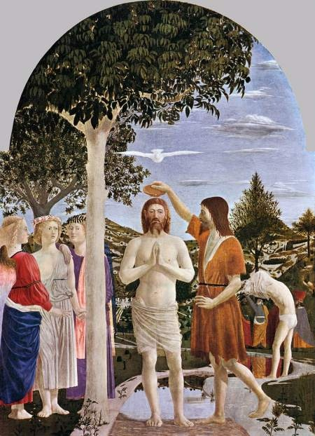 Baptism of Christ  Pierro della Francesca, 1448-50