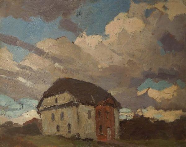 Mur i obłoki - Ferdynand Ruszczyc