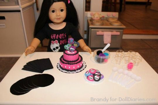 Doll sized Monster High Party with instructions. So cute!