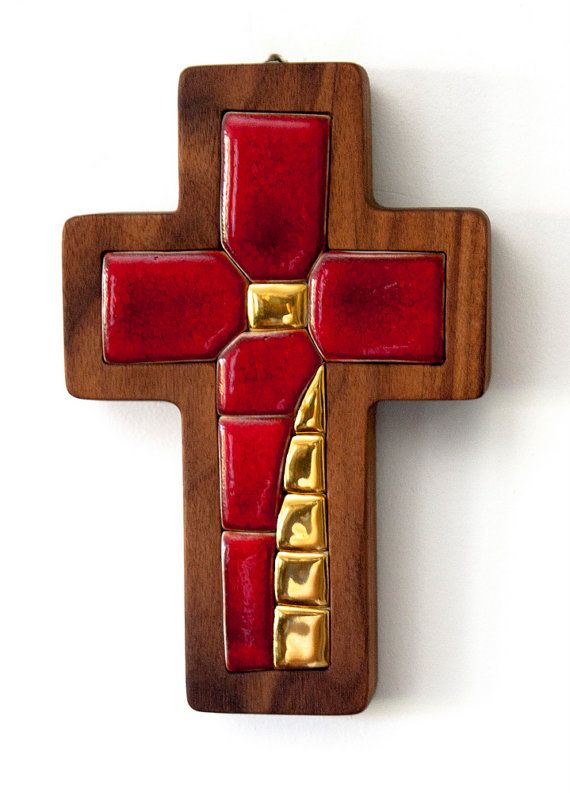 Cross  Original artwork hand made ceramic mosaic by LuboMichalko, €120.00