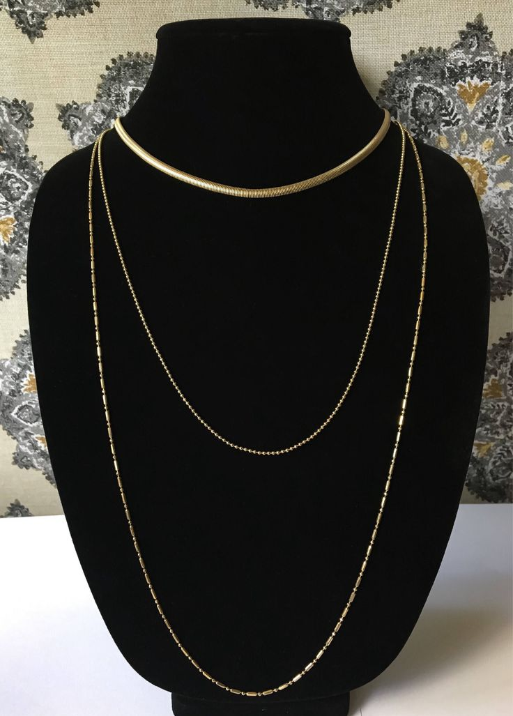 A personal favorite from my Etsy shop https://www.etsy.com/listing/536268298/layered-gold-plain-chain