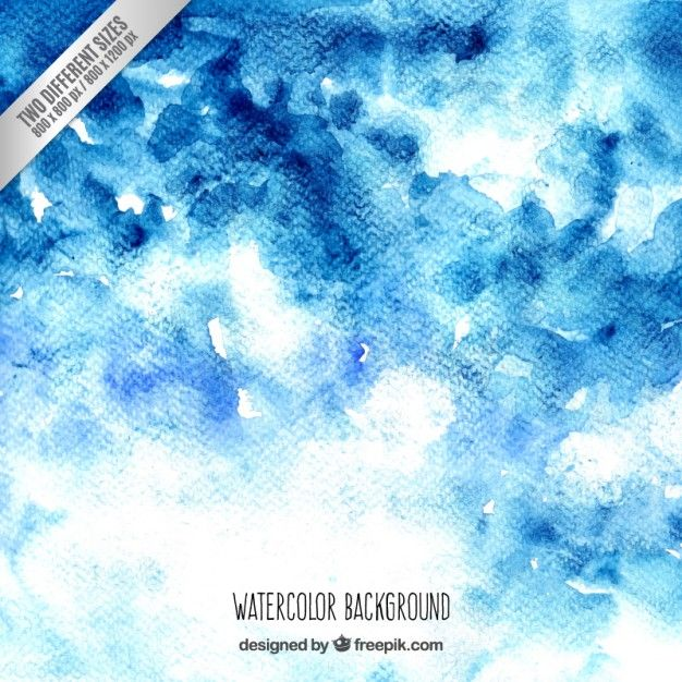 Free vector Blue watercolor background #33781
