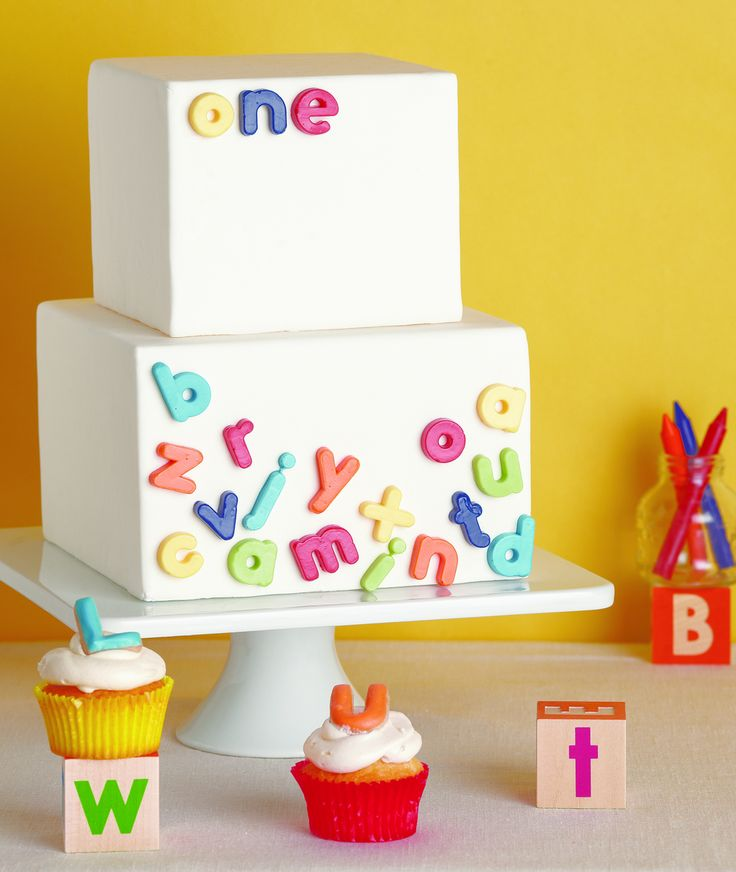 Best Alphabet Cake Ideas On Pinterest DIY Bunting Banner - Colorful diy kids cakes