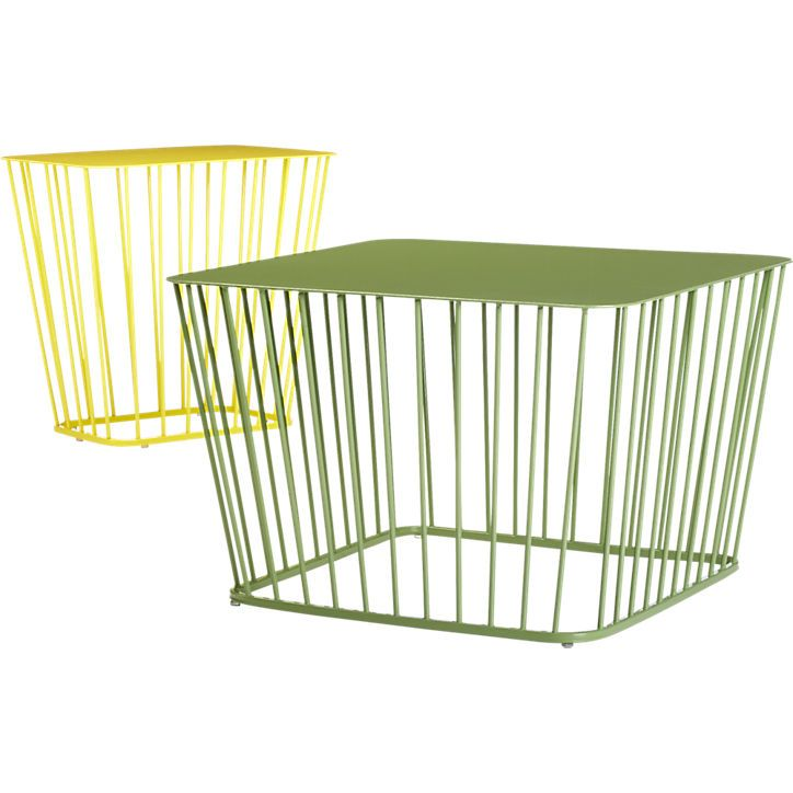 Wire Side Table CB2 Gardens And Outdoor Design