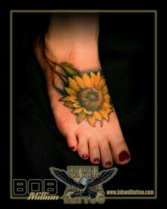 Sunflower Foot Tattoos on Pinterest