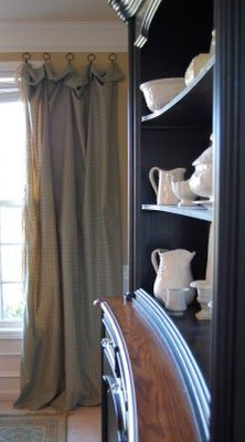 Rodless curtains: Hutch Colors