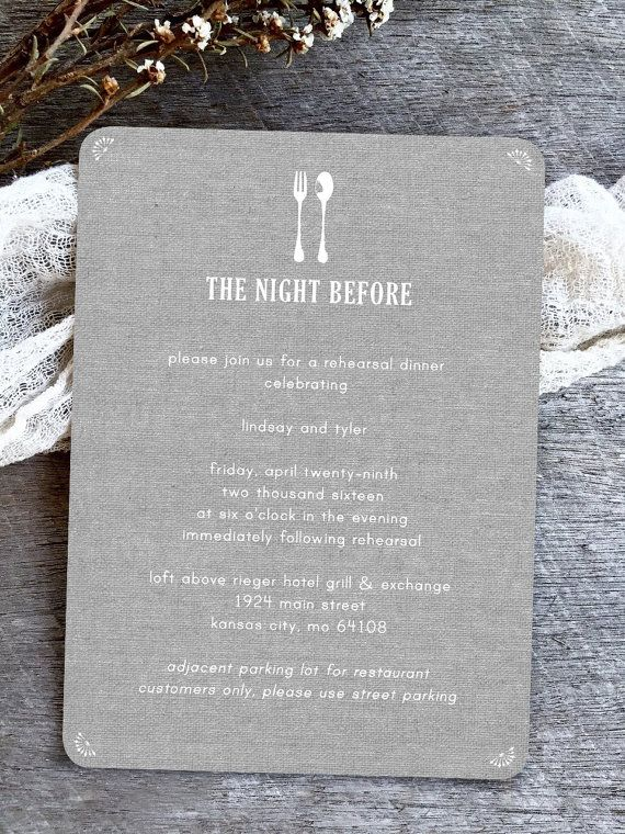 Rustic Grey Burlap Rehersal Dinner Invites, Barn Rehearsal Dinner Invitations, neutral gray Wedding invitations by BrossieBelle