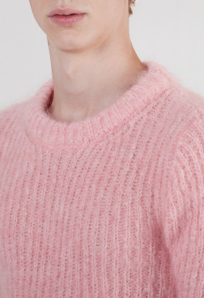 Raf Simons Mohair Roundneck Pink – Voo Store