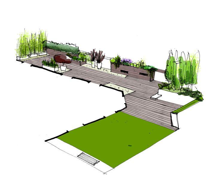 diseo de jardin para terraza de tico en bilbao paisajismo diseo jardines